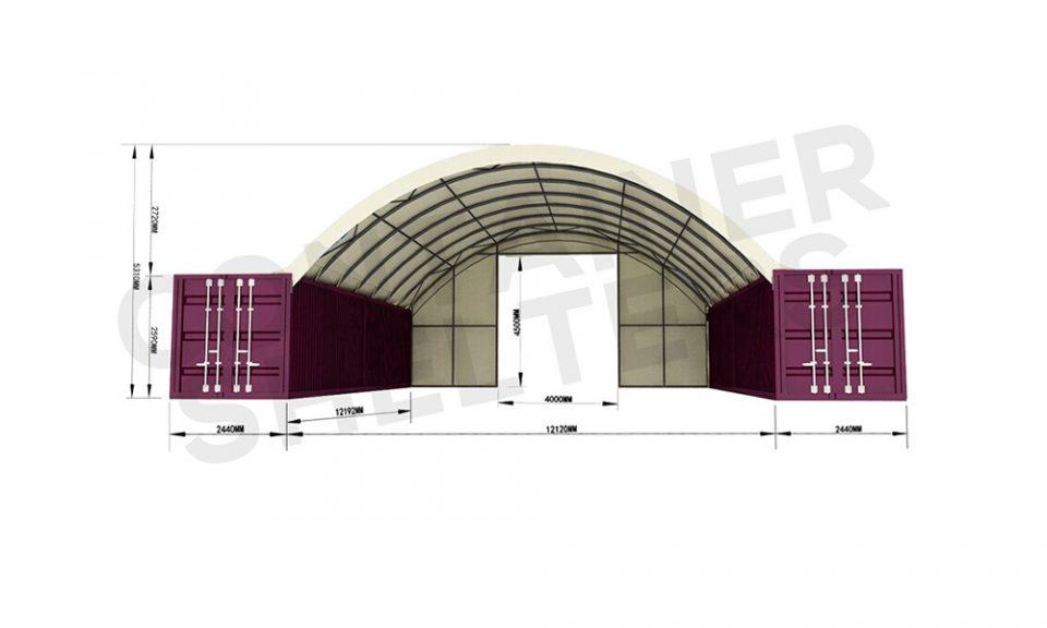 12m x 40′ Super Heavy Duty C/S – Fire Retardant PVC Covers