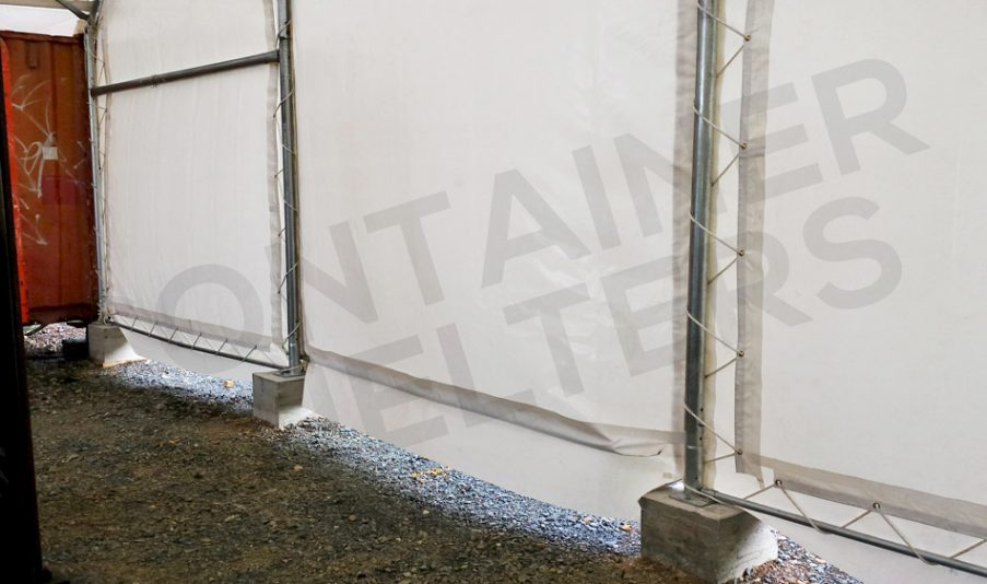 Solid, Secure End Wall Panels that won't blow out!